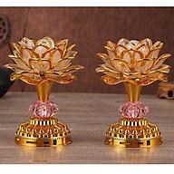 Bộ 2 Đèn thờ hoa sen đổi màu có tụng kinh thumbnail