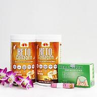 Liệu trình 2 hộp Keto Collagen 500g [Chính Hãng] - Bữa ăn Keto hỗ trợ GIẢM CÂN SIÊU TIỆN LỢI cho người thực hành Keto và người muốn giảm cân - Giảm 3-7Kg 1 tháng [Tặng 1 hộp Chất xơ hòa tan Hera Happy chống táo bón và 1 Thước dây] thumbnail