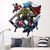Decal dán tường siêu anh hùng 3D thumbnail