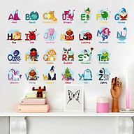 Decal dán tường bảng chữ cái tiếng anh XH6221 thumbnail