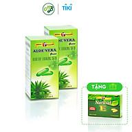 TPCN Viên uống ALOE VERA GREEN hỗ trợ chống lão hóa,dưỡng ẩm cho da,giúp mát gan nhuận tràng 2 CHAI 60 VIÊN TẶNG 1 HỘP NATURAL E thumbnail