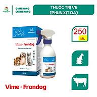 Vemedim Vime - Frondog, thuốc trị ve, rận cho chó, mèo, chai xịt 250ml thumbnail