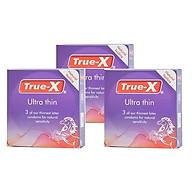 Bộ 3 Hộp Bao Cao Su True - X Ultra Thin Siêu Mỏng (3 Cái Hộp) thumbnail