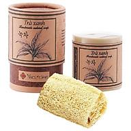 Xà phòng trà xanh tặng xơ mướp - Green Tea Handmade Soap thumbnail
