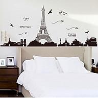 Decal dán tường thành phố Paris và tháp Eiffel xinh đẹp của nước pháp ZOOYOO KK049 thumbnail