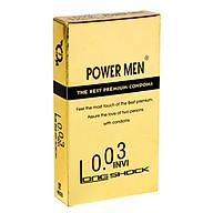 Bao Cao Su Chống Xuất Tinh Sớm Siêu Mỏng POWER MEN 0.03 Invisible Long Shock (H12) - Che Tên Sản Phẩm - SHOP ADAM thumbnail