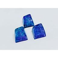 Keycap artisan profile SA R1 màu lam tím trang trí bàn phím cơ. thumbnail