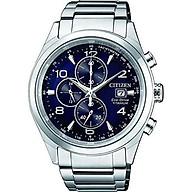 Citizen Men s Eco-Drive CA0650-82L Silver Titanium Japanese Quartz Fashion Watch thumbnail