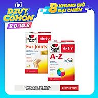 Bộ đôi bổ sung vitamin và khoáng chất tăng đề kháng, cải thiện chức năng khớp Doppelherz A-Z Depot + For Joints (02 hộp 30 viên) thumbnail