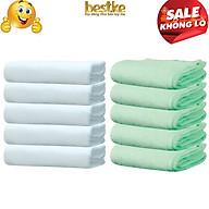 Combo 10 Khăn gội bestke 100% cotton mềm mại và thấm hút white color, nõn chuối, Cotton towels, towels manufacturer thumbnail