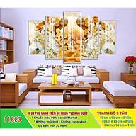 Tranh treo tường ngọc 3D 5 tấm Gỗ MDF cao cấp chống ẩm mốc N05 thumbnail