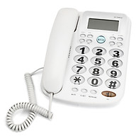 Corded Phone Big Button Landline Caller ID Desktop Home Telephone Desk Hotel Bar thumbnail
