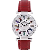 Đồng hồ nữ dây da chính hãng Royal Crown 4604 (36mm) - Đỏ thumbnail