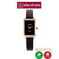 Đồng hồ nữ đeo tay dây da Guou mặt vuông đính đá chính hãng chống nước tuyệt đối 663 thumbnail