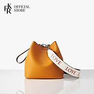 Túi đeo chéo Find Kapoor Pingo Bag 20 Basic Lettering FBPB20MTX98F01 - màu mù tạc thumbnail