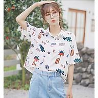 Áo Sơ Mi Nữ Form Rộng Phong Cách Hàn Quốc Chất Liệu Kate Chống Nhăn In Nhiều Họa Tiết Áo Thời Trang 4YOUNG SMN02 thumbnail