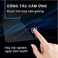 gương cảm ứng thông minh tính năng phá sương đồng hồ nhiệt độ kích thước 80x100cm - mirror thumbnail