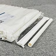 100 cái ống hút giấy 12mm bọc màng, size to uống trà sữa có trân châu thumbnail