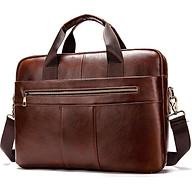 Túi xách cặp da đựng laptop da bò công sở cao cấp T38 39.5x28.5x6.7cm thumbnail