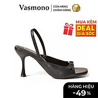 Giày Cao Gót Vasmono Hở Mũi Phối Nơ thumbnail