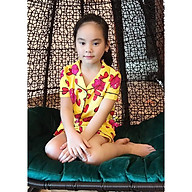 Bộ Pijama bé gái hình con lợn vàng hồng thumbnail