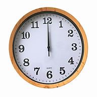 Đồng hồ treo tường Kim trôi cao cấp Quartz Viền Gỗ thumbnail