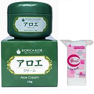 Combo 1 kem dưỡng tái tạo da chiết xuất Lô hội Nhật bản ( 120g) + 1 bông tẩy trang 50 miếng thumbnail