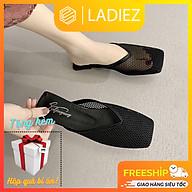 Giày Búp Bê Thời Trang Cao Cấp Ladiez Dép Sục Nữ Lưới Da Mềm Êm Chân Thoáng Khí Đế Bệt Xinh Xắn Siêu Đẹp thumbnail