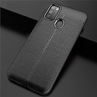 Ốp lưng silicon dẻo giả da Auto Focus cao cấp dành cho Samsung Galaxy M21 - Hàng chính hãng thumbnail
