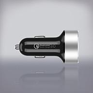 Tẩu sạc xe hơi 2 cổng USB QC 3.0 - Hàng chính hãng MOMAX thumbnail