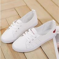 Giày Lười Slip On Buộc Dây Đế Bệt In Hình Tim Siêu Xinh MPS224 thumbnail