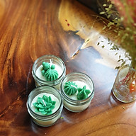 Combo 3 nến thơm tinh dầu gỗ thông hình xương rồng và sen đá 85g mõi hũ, giúp thư giãn giảm stress, thơm phòng- Essential Oil Candle thumbnail