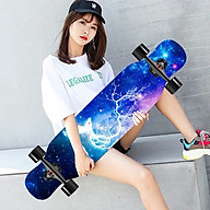 Ván Trượt Người Lớn Skateboard, Mặt Nhám Bánh PU Phát Sáng + Trục Hợp Kim Nhôm thumbnail