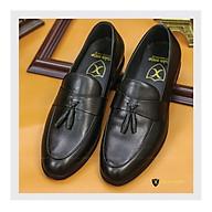 Giày tây nam da bò cao cấp - Giày lười nam công sở thời trang chất liệu da bò đế cao su Mã G032 thumbnail