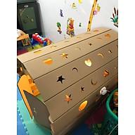 Nhà bìa đồ chơi - Nhà bìa vòm carton 100% bột gỗ size to 100x69x82 thumbnail