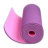Thảm tập Yoga dày 8 mm giao màu ngẫu nhiên tặng kèm 2 bàn chải hàn quốc thumbnail