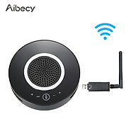 Aibecy 2.4G Wireless Conference Microphone Omnidirectional Mic Speakerphone 6 Meters 360 Audio Pickup Touch-Control USB thumbnail