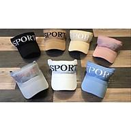 Mũ lưỡi trai thể thao, nón trắng Hàn Quốc nửa đầu sport thumbnail