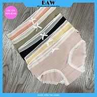 Quần Lót cotton phối ren chống vi khuẩn thoáng mát và thoải mái cho nữ thương hiệu BAW mã QLN55 thumbnail