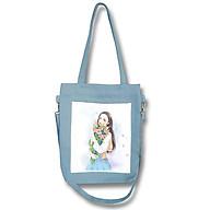 Túi tote đeo chéo nữ vải canvas phom đứng phối hình in cô gái thời trang COVI nhiều màu sắc T10 thumbnail