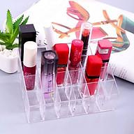 Khay nhựa 24 ô đựng son, phụ kiện, trang sức trang điểm thumbnail