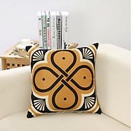 Vỏ Gối Tựa Lưng Sofa - Thổ Cẩm Vàng thumbnail