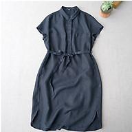 Đầm suông linen cổ đức phối 2 túi ngực ArcticHunter, chất vải linen tự nhiên mềm mại, thời trang thương hiệu chính hãng thumbnail