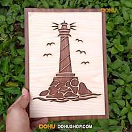 Tranh Gỗ Treo Tường Handmade DOHU016 Ngọn Hải Đăng - Thiết Kế Đơn Giản, Độc Đáo, Sang Trọng thumbnail