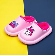 Giày Trẻ Em Bobdog BD - 6030 Dép Sục Lót Lông Cho Bé Trai Bé Gái Siêu Mềm Ấm, Chống Trơn Trượt thumbnail
