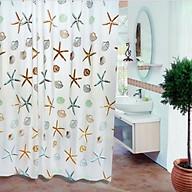 Rèm Phòng Tắm Rèm Cửa Sổ Trằng Họa Tiết SAO BIỂN 180cm X 180cm Loại 1 thumbnail