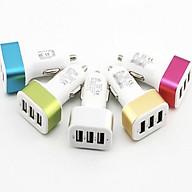Bộ Chia Tẩu Sạc Xe Hơi - Bộ Chia Tẩu Sạc 3 Cổng USB ( Phát Màu Ngẫu Nhiên ) thumbnail