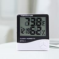 Máy đo nhiệt độ độ ẩm để bàn ( PHẠM VI ĐO NHIỆT ĐỘ -10 C 50 C ) - Tặng kèm 01 móc khóa tô vít đa năng thumbnail