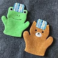 Găng tay tắm bé cao cấp hình Ếch nhập khẩu từ Nhật Bản thumbnail