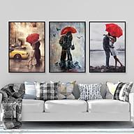 Tranh Canvas Treo Tường Hiện Đại _ Tranh Bộ 3 Tình Yêu Phong Cách Sơn Dầu thumbnail